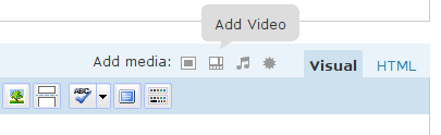 Add Video button location