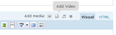 Add Video button location