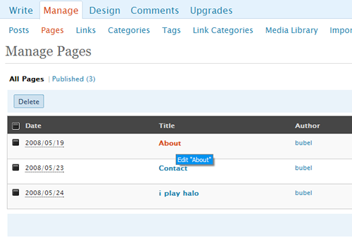 manage pages ss